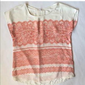 41 Hawthorne XS Lace Print Top